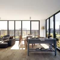 Yarra House Apt05 Living Balcony
