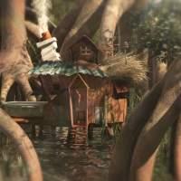 house on swamp