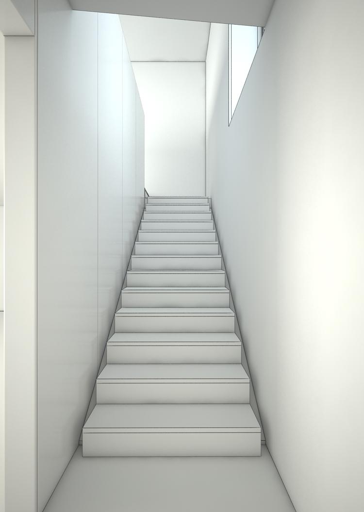 escalier maquette