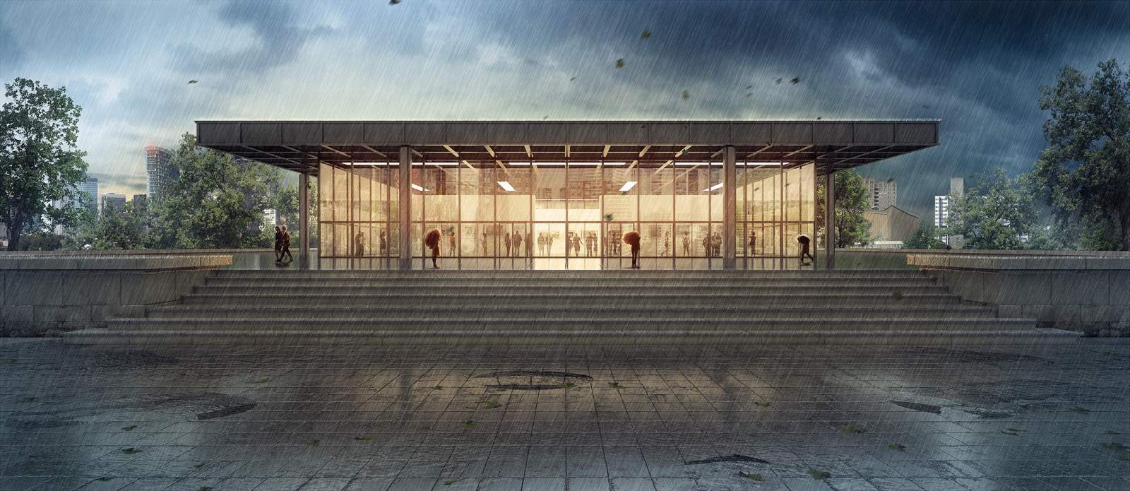 The Neue NationalGalerie Berlin